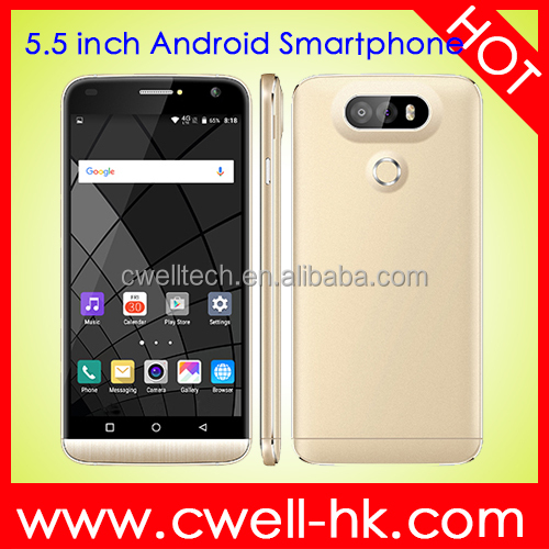 Low Price Smart Mobile Phone 5.5 inch MTK6582 Super Slim Smart Mobile Phone X-BO G5