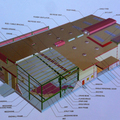 High quality light steel frame structure warehouse