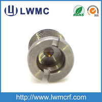 SMP type male thread mounted receptacle rf connector