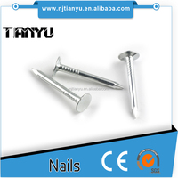 3-5um Galvanized layer ISO Standard and Steel 2.70mm shank diameter umbrella head roofing nails making machines