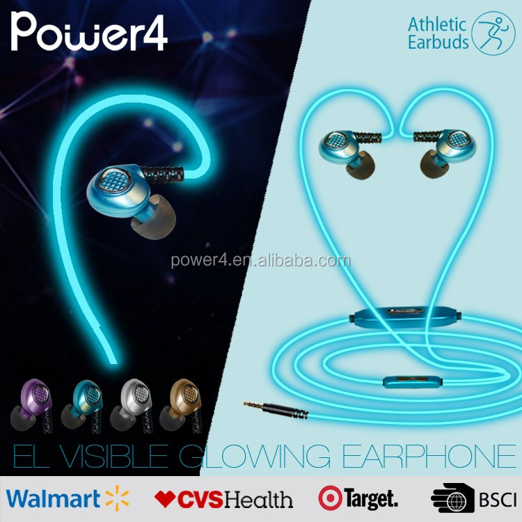 very good price el glow headphone earphone with mic for mp3 player