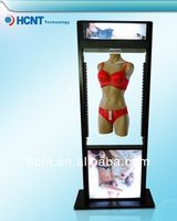 New Invention ! magnetic levitation led display rack for underwear, sexi girl wear bra and panty