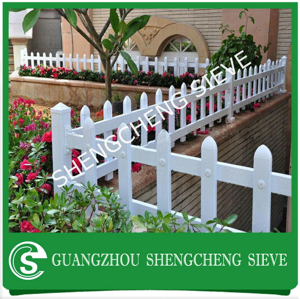 White plastic garden fencing Vinyl picket pvc fence for export