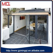 THREE PANEL FOLDING AND ONE PANEL SWING OUT FOLDING DOOR