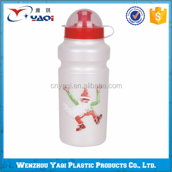 China's best quality 500ml bpa free reusable Christmas water bottles gift with dust cover 2016