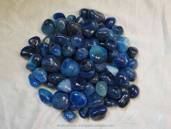 Blue Colored Dyed Pebble Stones for decoration
