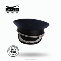 Customized Air Defence Forces Lance Corporal Hat with Silver Embroidery for Navy
