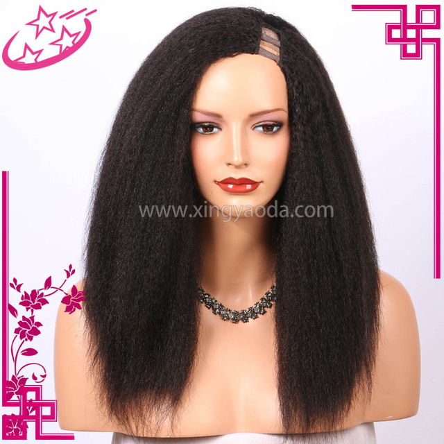 Human Hair Kinky Straight U Part Wig
