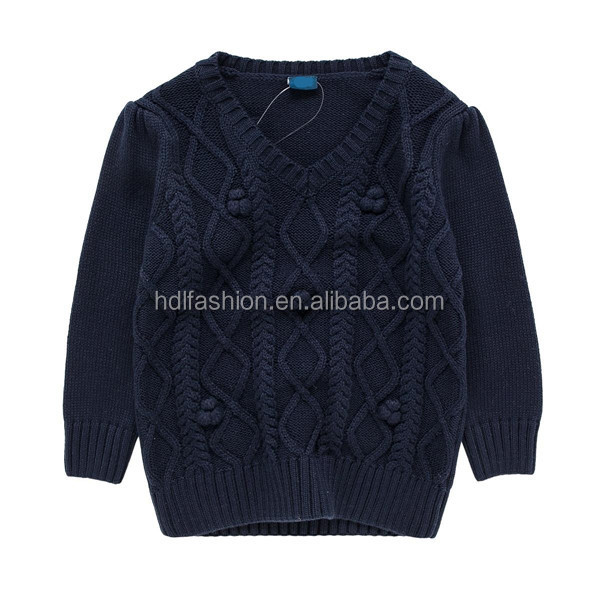 Children thick navy cable winter jumper china supplier korea knit sweater