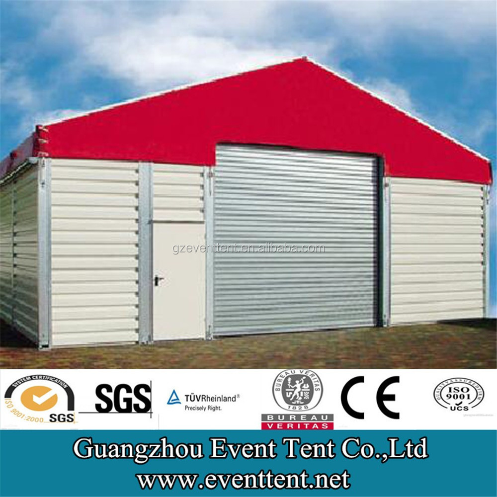 12m temporary warehouse tent with roller shutter door, insulated tent for warehouse