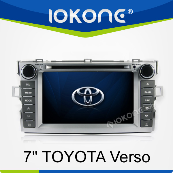 2 din touch screen car dvd recorder w/ gps for TOYOTA Verso