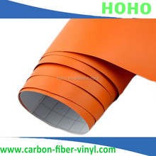 Orange Waterproof matte car wrapping PVC film,Various color selection 1.52*30m size HQ