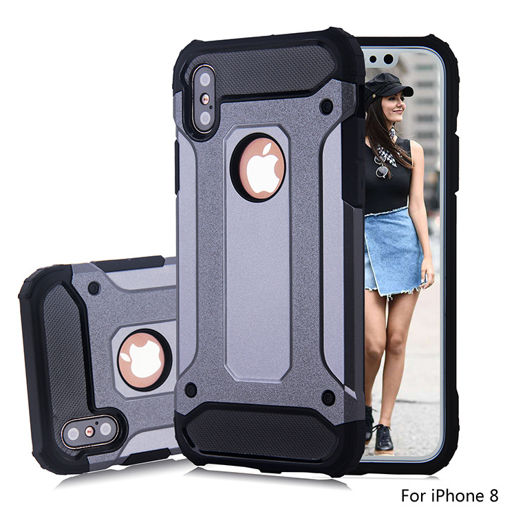 Classical Useful Dual Layers Hybrid Combo Case For iPhone X Cell Phone Cover Deluxe Phone Cover For iPhone X Mobile