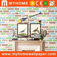 China good sale MyHome latest flower kids room design vinyl wallpaper