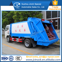 Manual Transmission Type and LHD Steering Position 4T small garbage compactor truck for hot sale