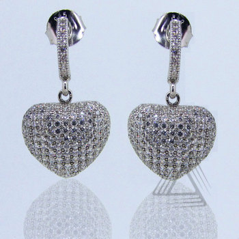 Silver Diamond Jewelry, Fashion Jewelry, Studs Earrings