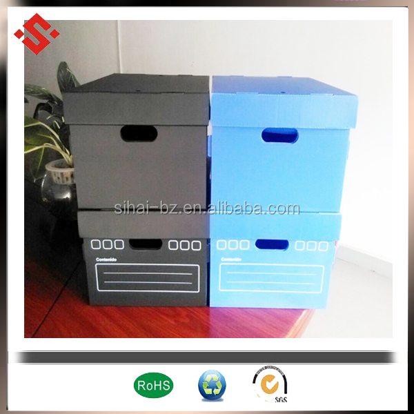 pp corrugated lid storage box