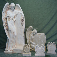 Gray Granite Angel Carving Monuments