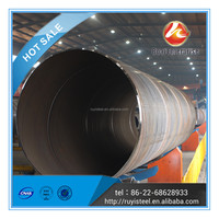 ASTM A252 API 5L Epoxy Coating Steel Piling Tubes/SSAW Welded Perforated Drainage Pipes