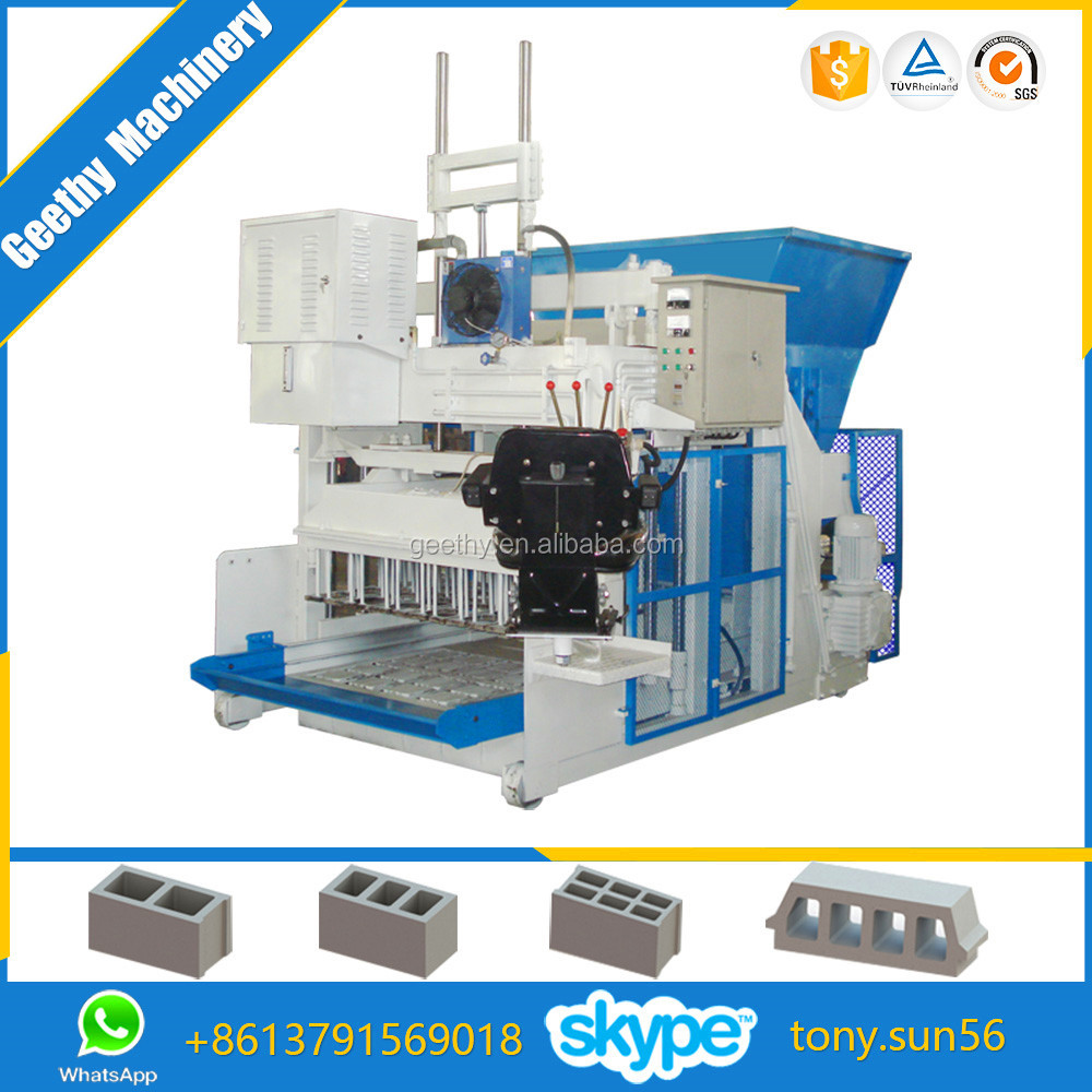 mobile block machine QMY12-15 portable hollow block machine/turkish block making machines/