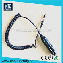 Car cigar jack charging cable Single pull retractable car cigarette lighter power cable
