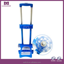 Transparent Wheels Extendable Blue Plastic Trolley On Wheels