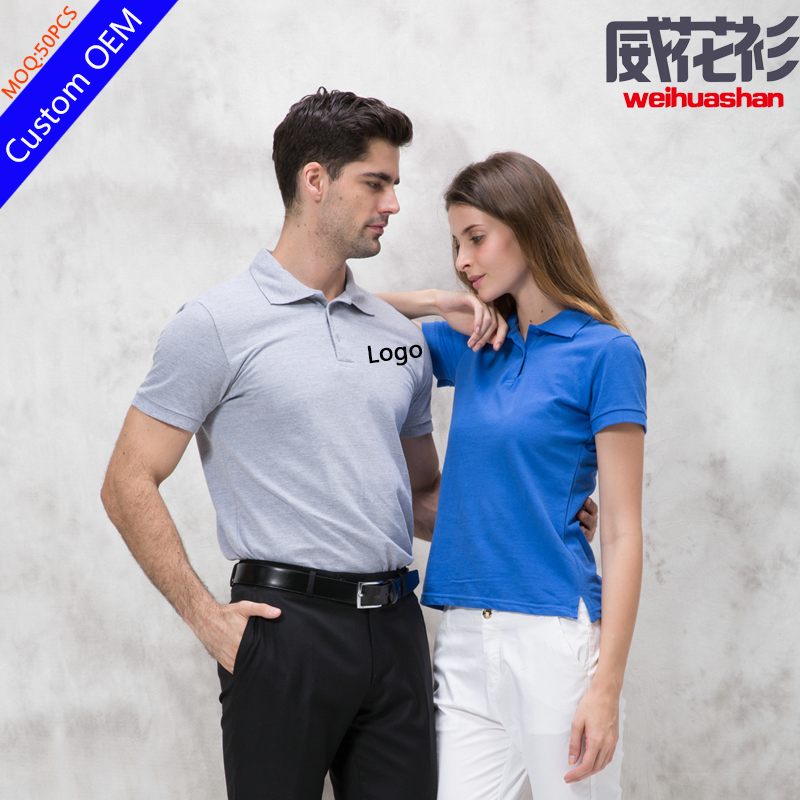 Hot sale Factory Embroidered Polo shirt 100% cotton 220grams Free sample Stock Custom Polo shirt