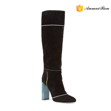 black cute cheap winter women knee high boots made in china