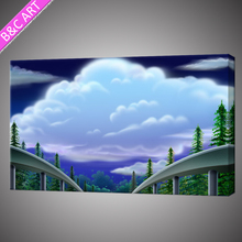 Modern beatiful scenery design picture wall painting seascape colorful sky printing