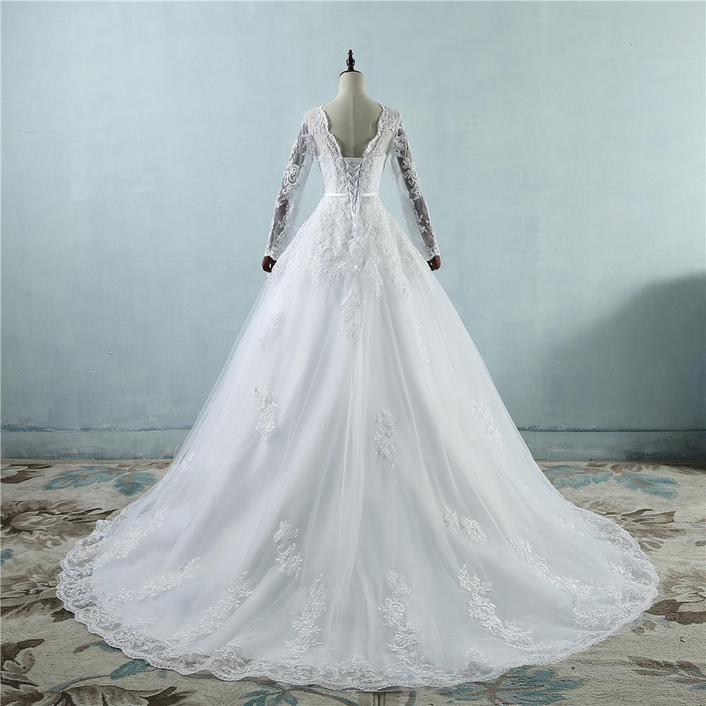 NE196 corsé encaje hasta 2017 blanco vestidos de novia con encaje ...