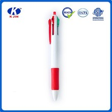 white Plastic Ballpoint Pen with 3colors for office