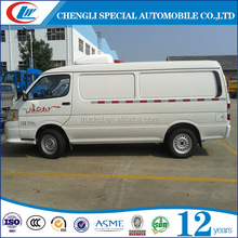 Mini refrigerated box car 900kg freezer cargo van for sale