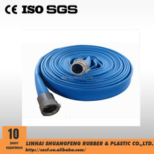 1.5 inch PVC layflat discharge hose with coupling/pvc garden hose