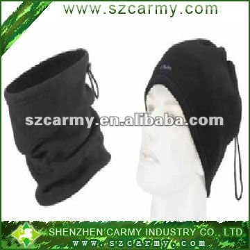 Two usage black 100% Micro-Fleece antipilling Scarf and hat