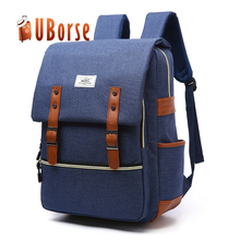 2017 Hot Selling Nylon Men's Laptop Backpack Outdoor Travel Bag Daily Backpack Vintage School Bag with USB Charging Port