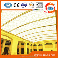New interior ceiling and wall decoration materials PVC stretch ceiling Film system