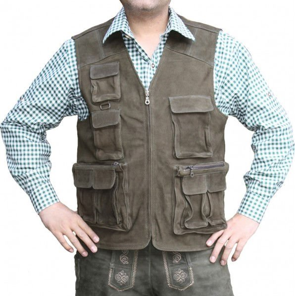 MENS HUNTING LEATHER VEST