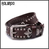 fashion Italian unisex genuine leather belt