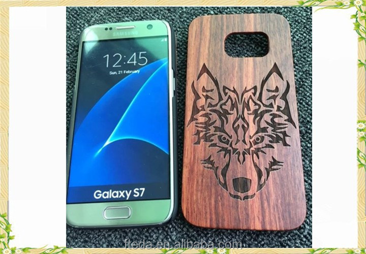 Rosewood mobile phone case for samsung galaxy s7 case with design