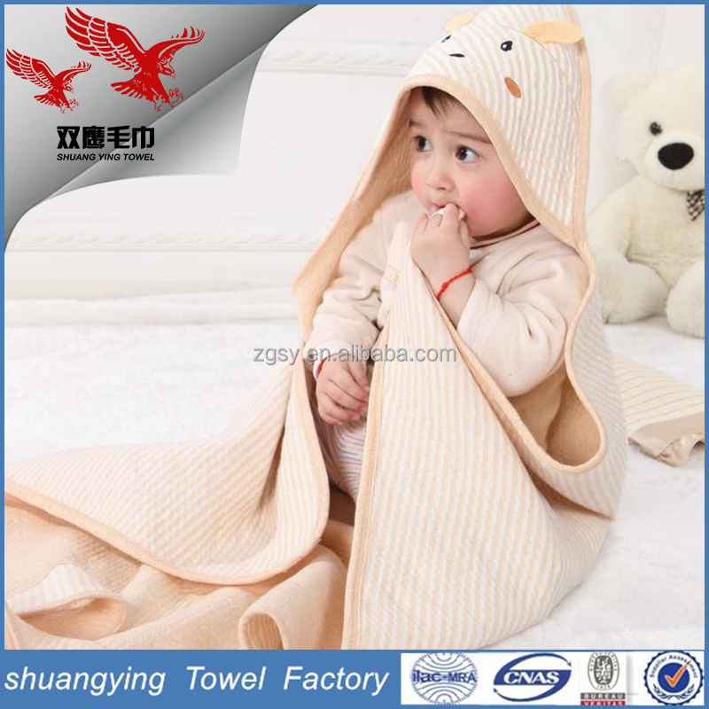 Factory production ISO certification skin-friendly cotton Hooded Baby Towel