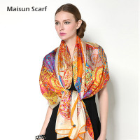 2014 new summer women long large size silk dubai muslim scarf