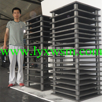 High strenth graphite material rack