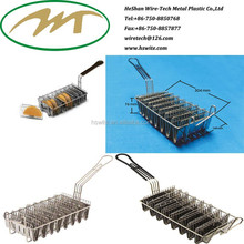 High quality China Cooking Tool 8 Cells Stainless steel 304 Taco Shell mesh fry basket manufacturer