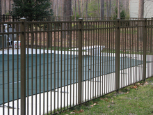 zinc coating wrought iron estate fencing