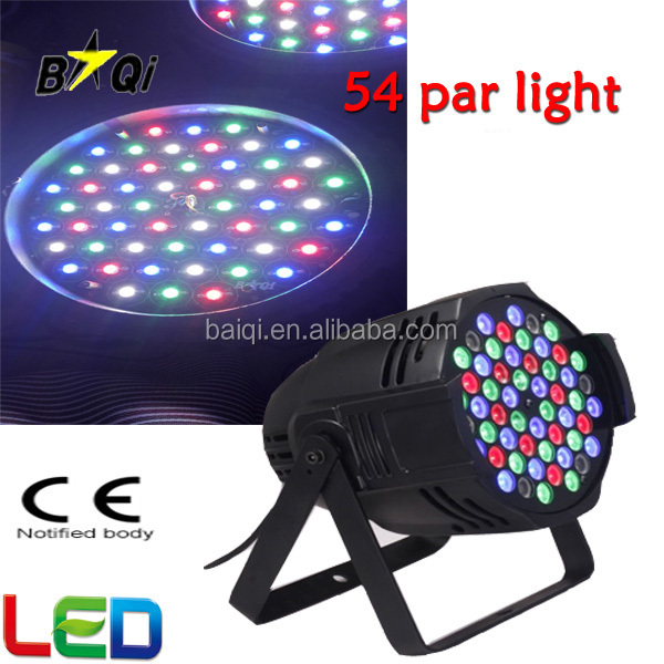 Promotion Better Cooling Effect RGB/RGBW led 54 3w par light for club/dj/karaoke/wedding/party LED Par Wholesale