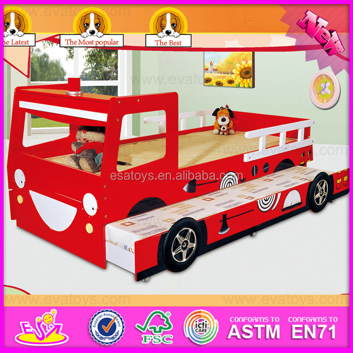 2016 Combinative children wooden furniture car bed W08A035