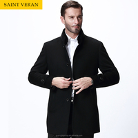SAINT VERAN Pre-sale 2016 Winter stand collar men's thick woolen/cashmere business coat