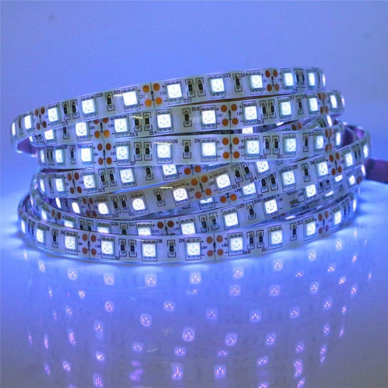 2017 Alibaba Custom order Blister Packing led strip/Power smd5050 30led/m RGB color