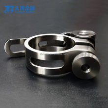 wholesale bicycle parts titanium seat post clamp titanium tube clamp For Road bike,MTB,BMX With Quick Release