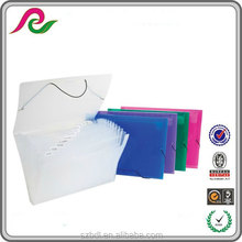 Stationery supplier clear plastic accordion file